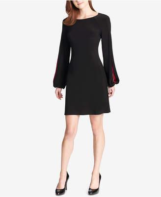 Tommy Hilfiger Contrast Split-Sleeve Jersey Dress