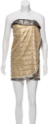 Proenza Schouler Metallic Mini Dress
