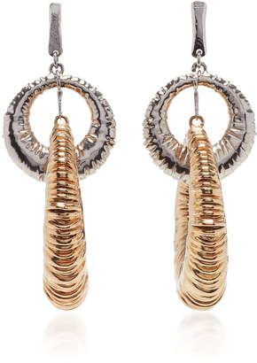 Givenchy Rhodium-Plated Silver And Gold-Tone Earrings