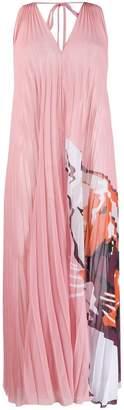 Krizia panther print pleated dress