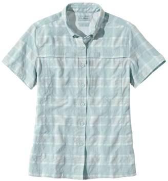 L.L. Bean L.L.Bean Tropicwear Shirt, Plaid Short-Sleeve