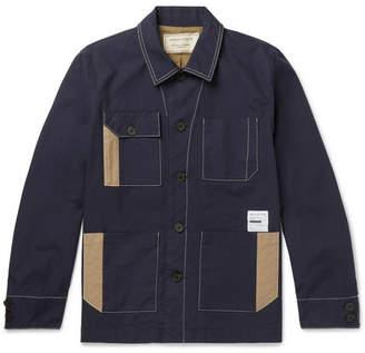 MAISON KITSUNÉ Patchwork Cotton-Twill Jacket