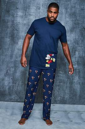 boohoo Big And Tall Disney Christmas Mickey Pyjama Set