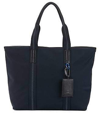 HUGO BOSS Structured tote bag with Italian calf-leather trims