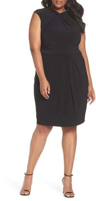 Adrianna Papell Matte Jersey Sheath Dress