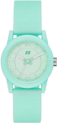 Skechers Womens Mint Dial Mint Silicone Strap Analog Watch