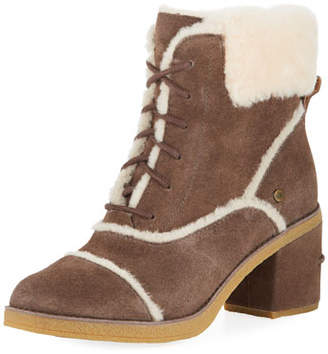 UGG Esterly Lace-Up Shearling Booties