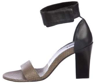 Chloé Gala Snakeskin Sandals