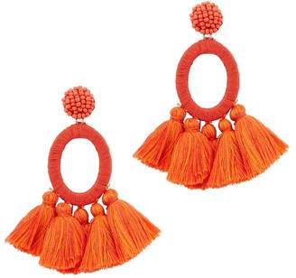BaubleBar Abacos Red Tassel Earrings