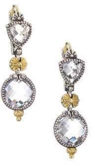 Konstantino Pythia Crystal, Sterling Silver& 18K Yellow Gold Drop Earrings