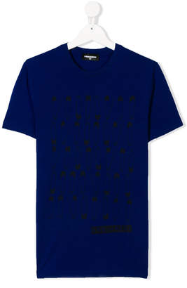 DSQUARED2 TEEN safety pin print T-shirt