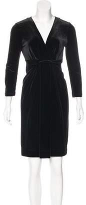 BCBGMAXAZRIA Long Sleeve Velvet Dress