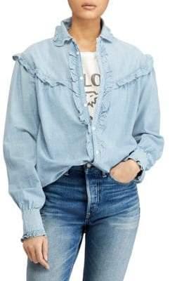 Polo Ralph Lauren Ruffle Button-Front Shirt