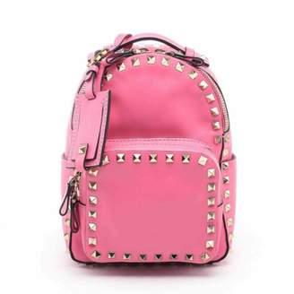 Valentino Rockstud Pink Leather Backpacks