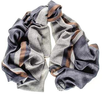 Black Kensington Merino Wool and Silk Scarf