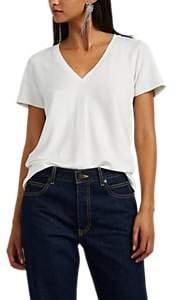 Rag & Bone Women's Reily French Terry V-Neck T-Shirt-Gray