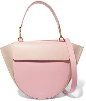Hortensia Wandler Medium Color-block Leather Shoulder Bag - Baby pink