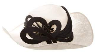 Philip Treacy Embellished Wide-Brimmed Hat