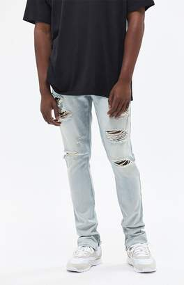 PacSun Stacked Skinny Ripped Light Jeans