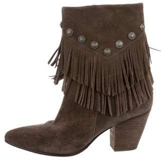 Belle by Sigerson Morrison Tassel Pointed-Toe Booties