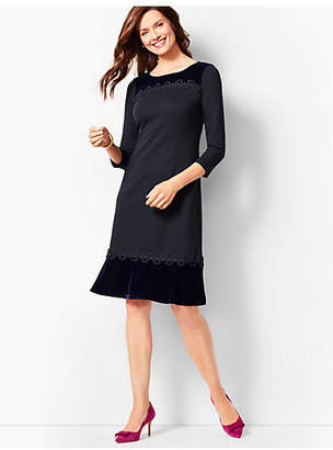 Talbots Refined Ponte & Velvet Dress