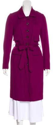 Dries Van Noten Belted Wool-Blend Coat
