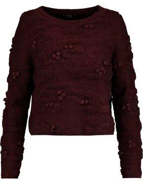 Raoul Pompom-Embellished Textured-Knit Sweater