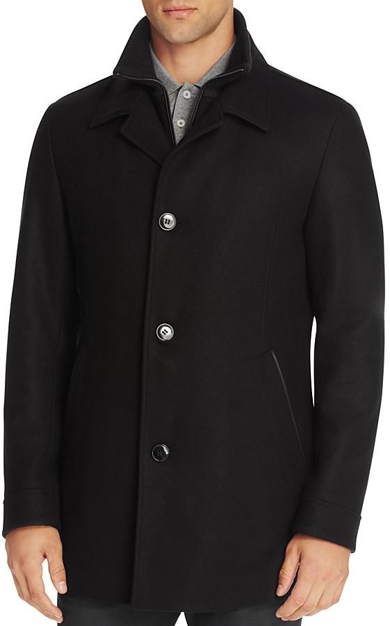 Hugo BossHUGO Barelto Layered Wool Blend Coat