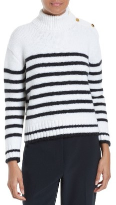 Women's Kate Spade New York Stripe Alpaca Blend Pullover $298 thestylecure.com