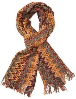 Missoni Men's Fringed Wool Long Scarf