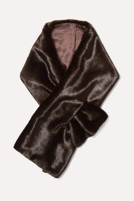 Arabella A PERDIFIATO Faux Fur Wrap - Brown
