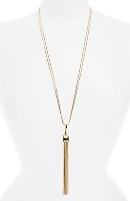 Women's Nordstrom Square Snake Chain Tassel Necklace $49 thestylecure.com