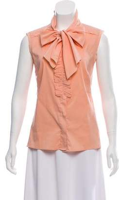 Tory Burch Ruffle Accented Sleeveless Top