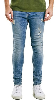 Topman Ripped Stretch Skinny Fit Jeans $75 thestylecure.com