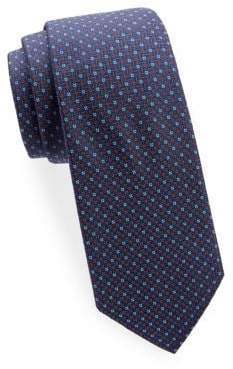 Saks Fifth Avenue Basket-Weave Silk Tie