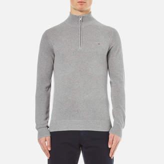 Gant Men's Cotton Pique Half Zip Sweatshirt