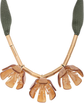 Oliver Bonas Hester Ribbon & Petal Statement Collar Necklaces