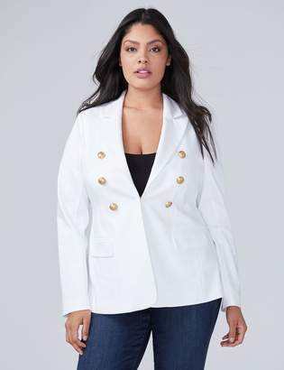 Bryant Blazer - Double-Breasted Double Weave Stretch