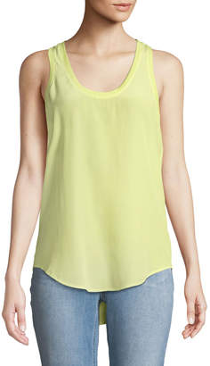 Equipment Mel Scoop-Neck Silk Tank