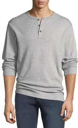 Frame Men's Heathered Jersey Henley Shirt