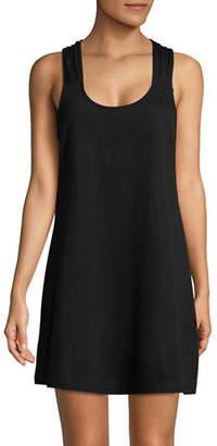 J Valdi Luxe Jersey Macramé Back Tank Dress
