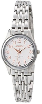 Aureole [オレオール 超硬ベゼル3針クォーツ レディース腕時計 文字盤カラー:ホワイト/PGインデックス SW-491L-5