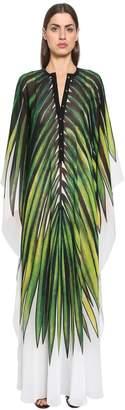 Elie Saab Printed Crepe Georgette Caftan Dress