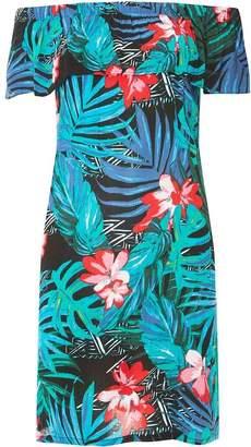 Dorothy Perkins Womens Multi Coloured Bright Tropical Print Bardot Dress