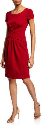 Emporio Armani Ruched-Front Milano Jersey Dress
