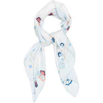 Hermes Blue Silk Scarves