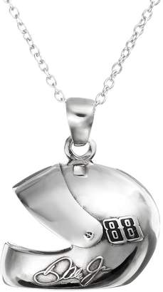 "Insignia Collection NASCAR Dale Earnhardt Jr. ""88"" Stainless Steel Helmet Pendant Necklace"