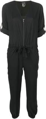 DKNY relaxed fit zip-up jumpsuit