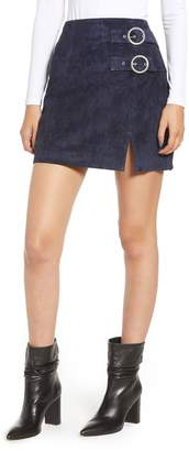 Blank NYC BLANKNYC Double Buckle Suede Skirt