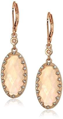 lonna & lilly Womens Rose Gold Oval Drop Earrings